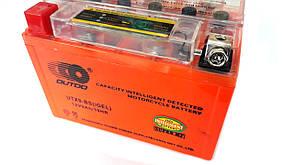 Аккумулятор 9A 12V (YTX9-BS) OUTDO гелевий з індикаторм 152x88x106 , фото 3