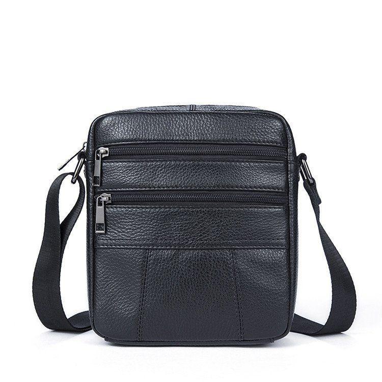 Сумка мужская флотар Vintage 14758 Черная, Черный