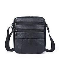 Сумка мужская флотар Vintage 14758 Черная, Черный, фото 1