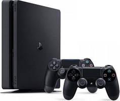 Sony Playstation 4 Slim 500GB (Black) + DualShok
