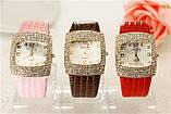 Жіночі годинники GoGoey,стрази Сваровскі,чорний ремінець, фото 2