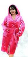 Махровый халат, Velsoft-махра, женский махровый халатик замечательного качества, украшен камнями. Украина.