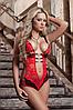 Эротическое белье Сексуальное белье. Эротическое боди. Эротический комплект красный.(46 размер Размер М )