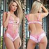Эротическое белье Сексуальное белье. Эротическое боди. Эротический комплект розовый .(40 размер Размер S )