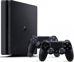 Sony Playstation 4 Slim 1TB (Black) + DualShok
