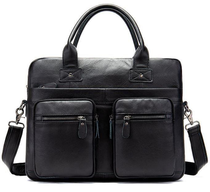 Сумка мужская под ноутбук Vintage 14771 Черная, Черный