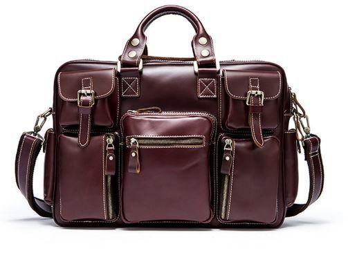 Дорожная сумка-портфель Vintage 14776 Бордовая, Бордовый
