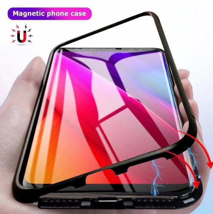 Магнитный чехол со стеклянной задней панелью для Samsung Galaxy S10 Plus