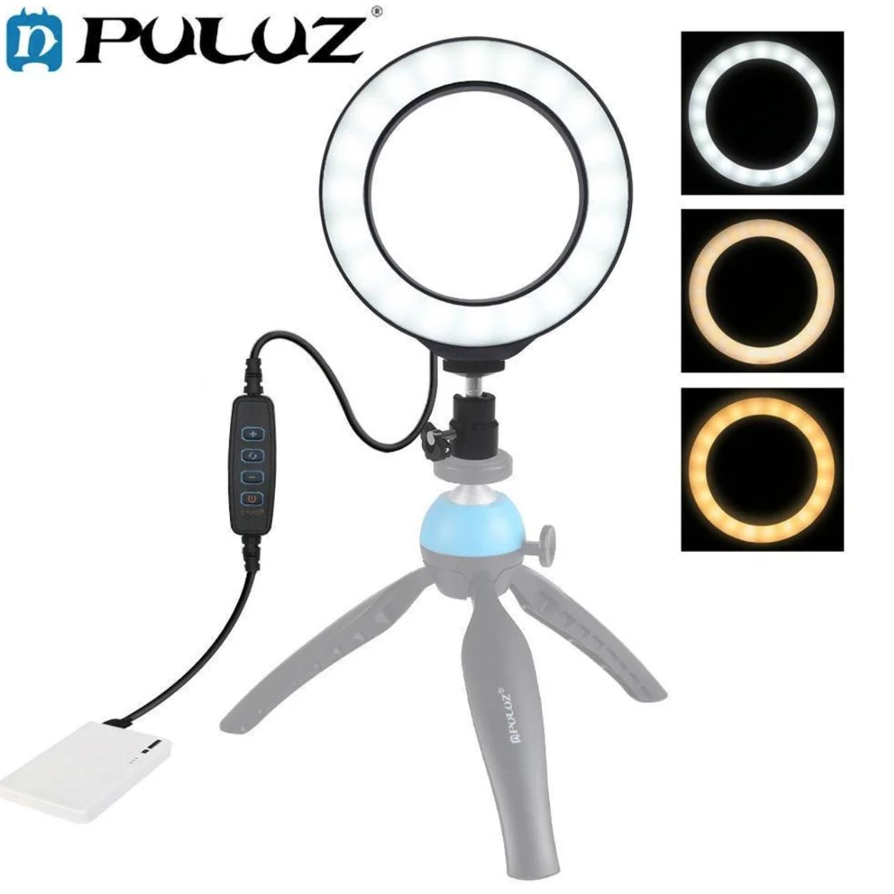Кільцева лампа для б'юті майстрів і блогерів (16 см. діаметр) - БЕЗ ШТАТИВА! (світлове кільце)