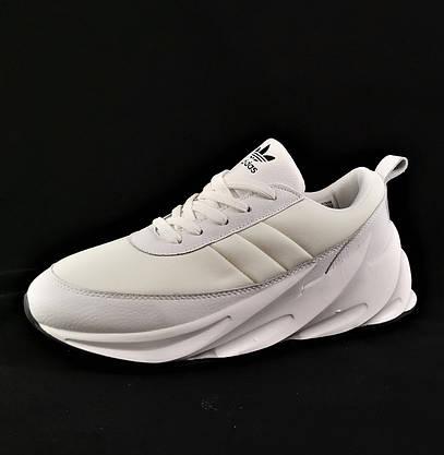 Кроссовки Adidas $harks Мужские Адидас Бело Акулы (размеры: 40,41,44,45) Видео Обзор, фото 3
