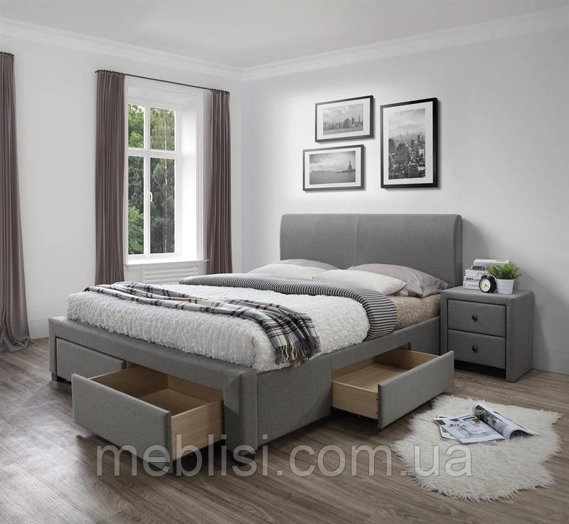 Кровать MODENA 140 серый Halmar