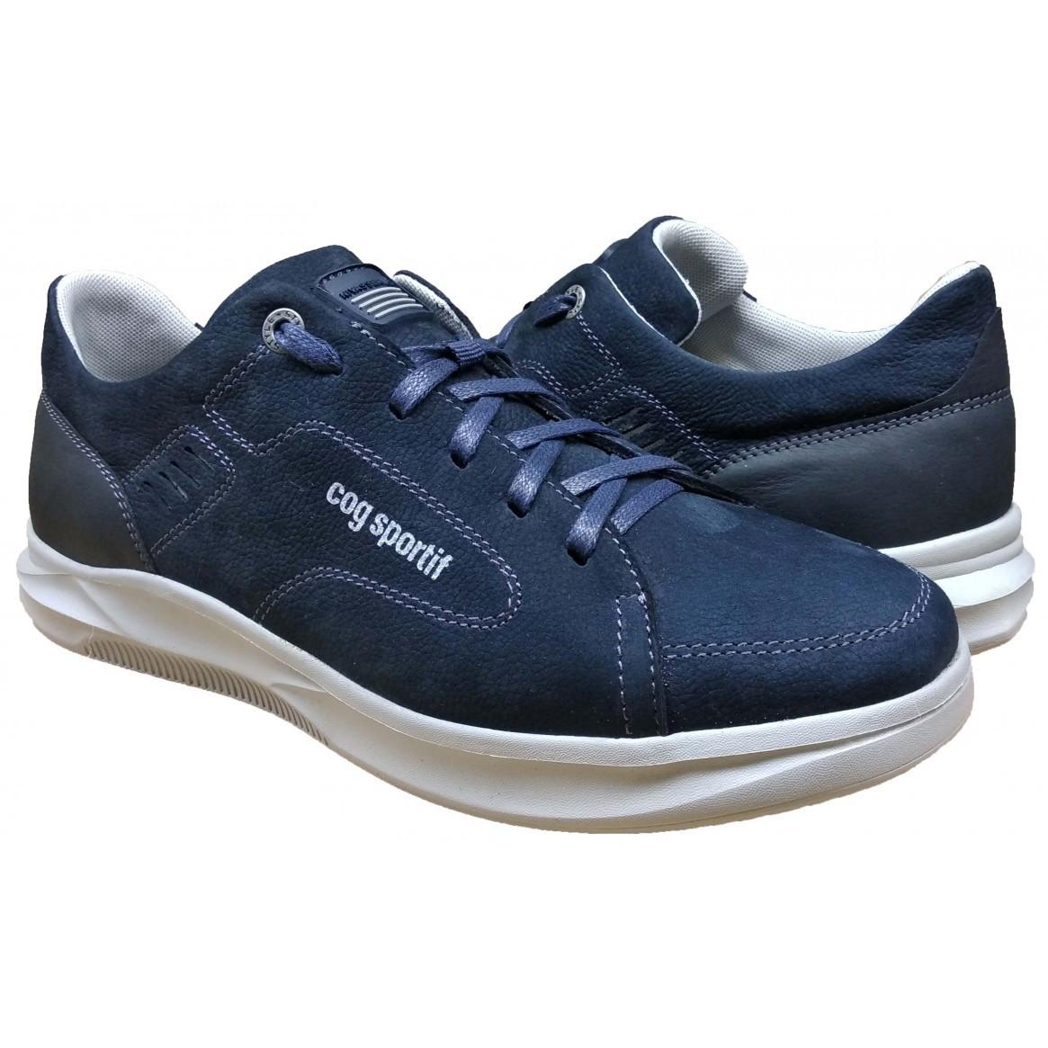 Мужские кожаные кроссовки 40-45 синий