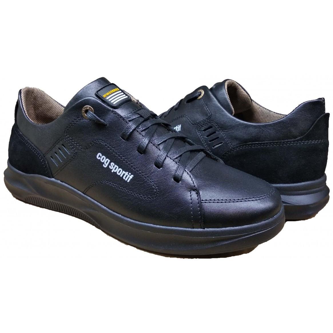 Мужские кожаные кроссовки 40-45 черный