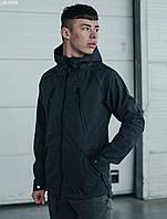 Весенняя куртка с влагозащитой графитовая Staff soft shell grafit ros LBL0099