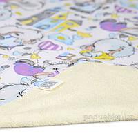 Двусторонняя непромокаемая пеленка Эко Пупс Eco Cotton Cлоник Baby 50х70 см