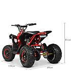 Электрический квадроцикл Profi HB-EATV1000Q-3ST(MP3) V2 красный, фото 6