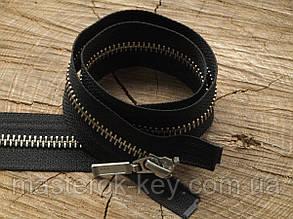 Молния металлическая YKK №5 80см разъемная цвет Черный зубья никель