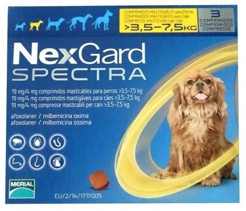 Таблетки Boehringer Ingelheim NexGard Spectra против паразитов для собак S (3.5-7.5 кг) (упаковка)