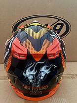 Мото кроссовый шлем Naxa (Испания) черно-оранжевый, фото 2