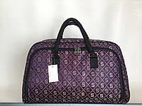 Сумка-саквояж женская дорожная средняя текстильная фиолетовая