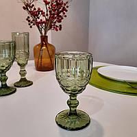 """Набор бокалов для вина из цветного стекла """"Изумруд"""" 240мл*6шт (арт.6443)"""
