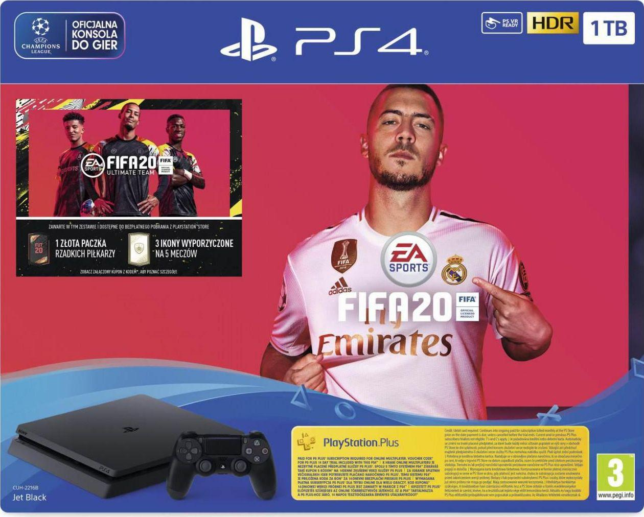 Sony PlayStation 4 Slim 1TB + FIFA 20