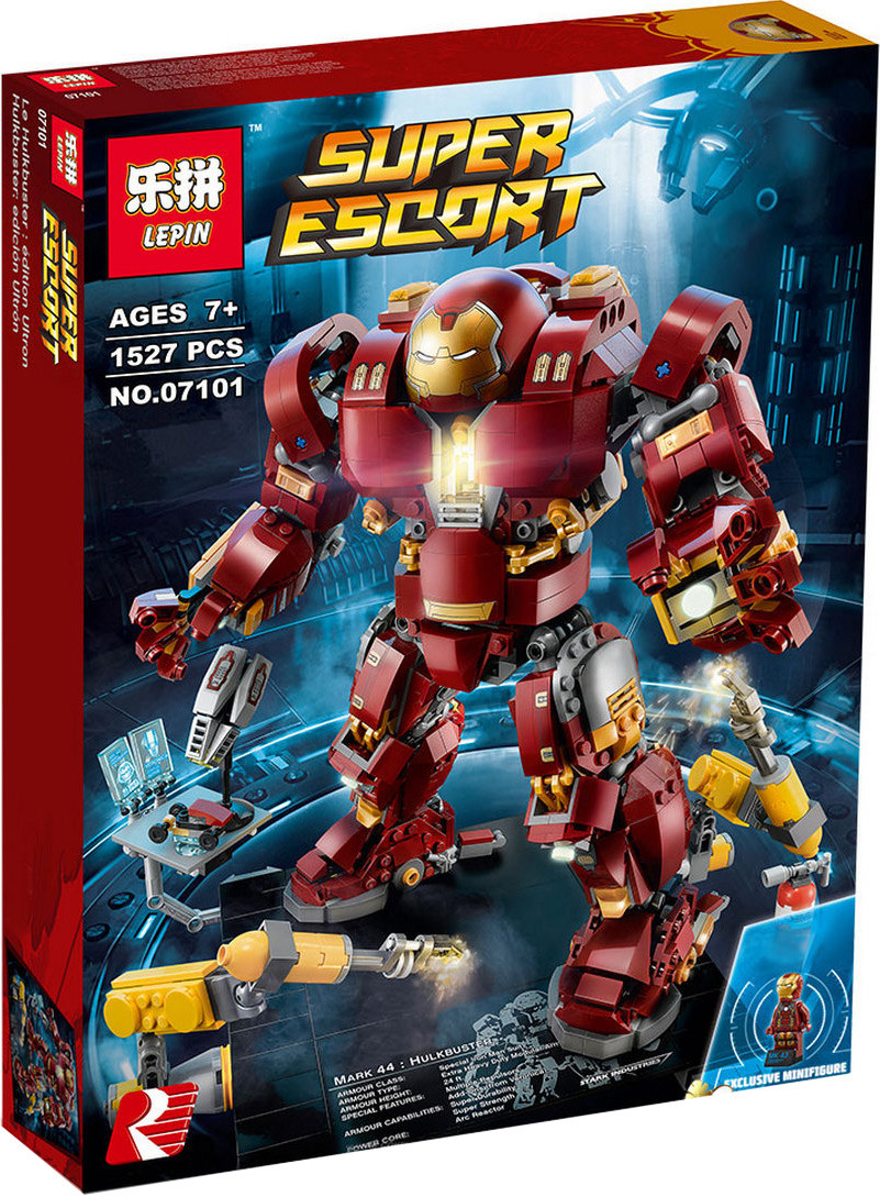 """Конструктор Lepin 07101 """"Халкбастер: эра Альтрона"""" (аналог Lego Super Heroes 76105), 1527 дет"""