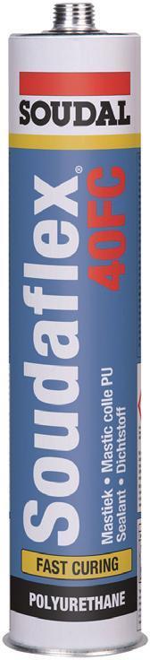 Клей-герметик полиуретановый серый SOUDAFLEX 40 FC Soudal 310 мл (саудал)