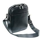 Мужская кожаная сумка планшет BRETTON черного цвета, фото 2