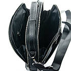 Мужская кожаная сумка планшет BRETTON черного цвета, фото 4