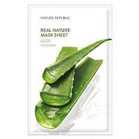 Nature Republic real nature mask sheet Aloe Тканевая маска для лица c экстрактом алоэ