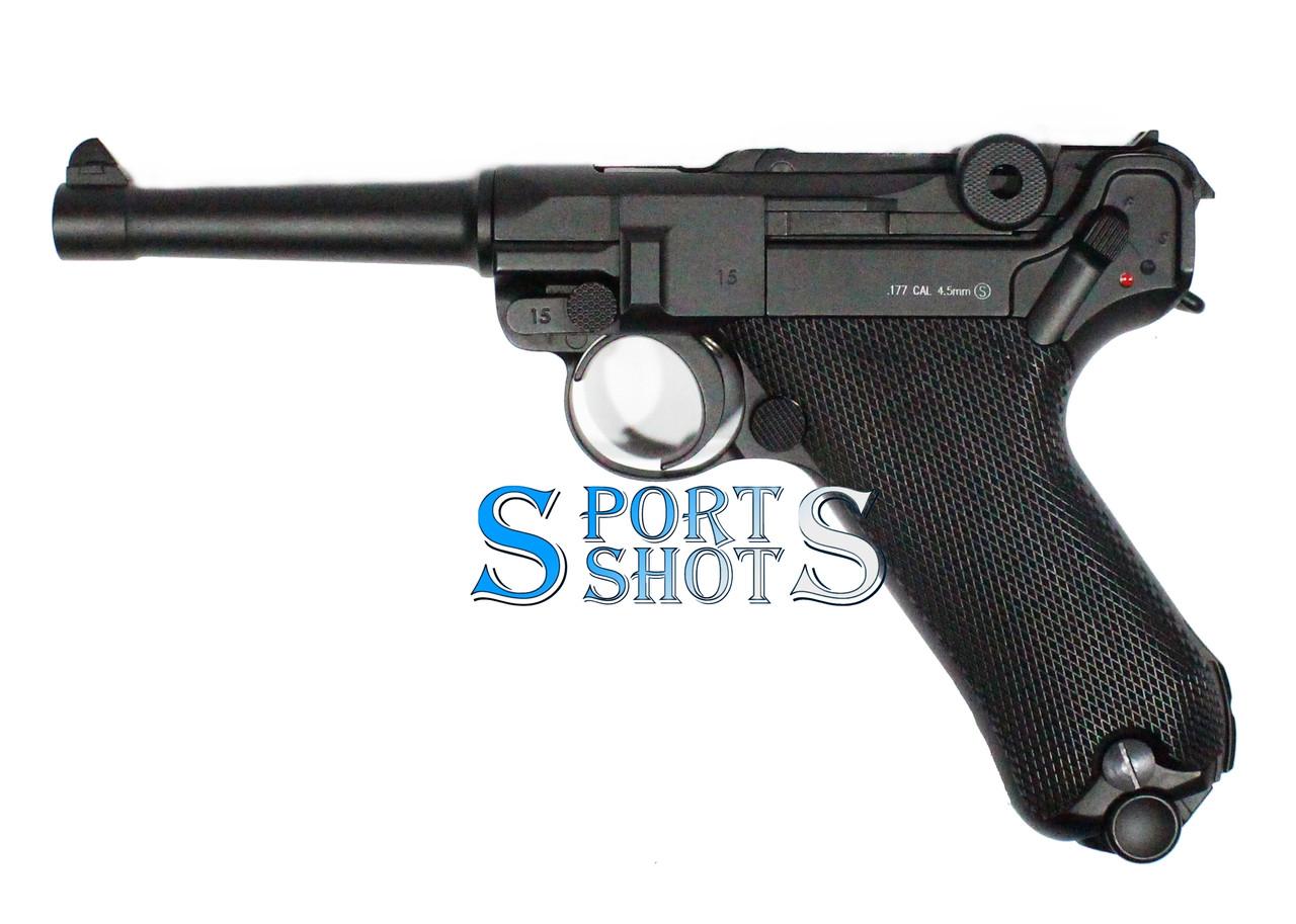 Пневматичний пістолет KWC Luger Parabellum P08 Blowback