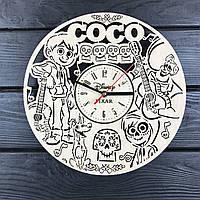 Детские настенные часы из дерева «Тайна Коко», фото 1