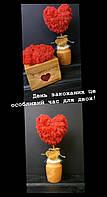 Оригинальные подарки на День Святого Валентина. Изделия со стабилизированного мха