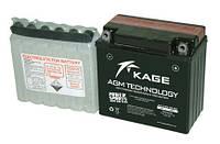 Аккумулятор мото 9 (А/ч) 12V KAGE KG12N9-3B-BS Правый [+]