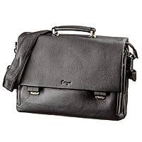 Портфель мужской KARYA 17283 кожаный Черный флотар, Черный, фото 1