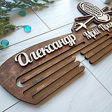 Оригинальная деревянная медальница «Фехтование» на заказ, фото 2