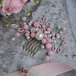 Гребень для волос в розовых оттенках