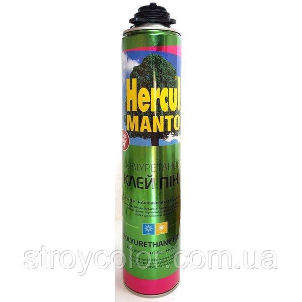Пена-клей профессиональная HERCUL MANTO 750мл (Полиуретановая монтажная под пистолет)