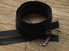 Молния металлическая YKK №5 80см разъемная цвет Черный зубья антик