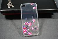 Чехол бампер силиконовый Apple iphone 4 4s айфон iPhone 4 с рисунком