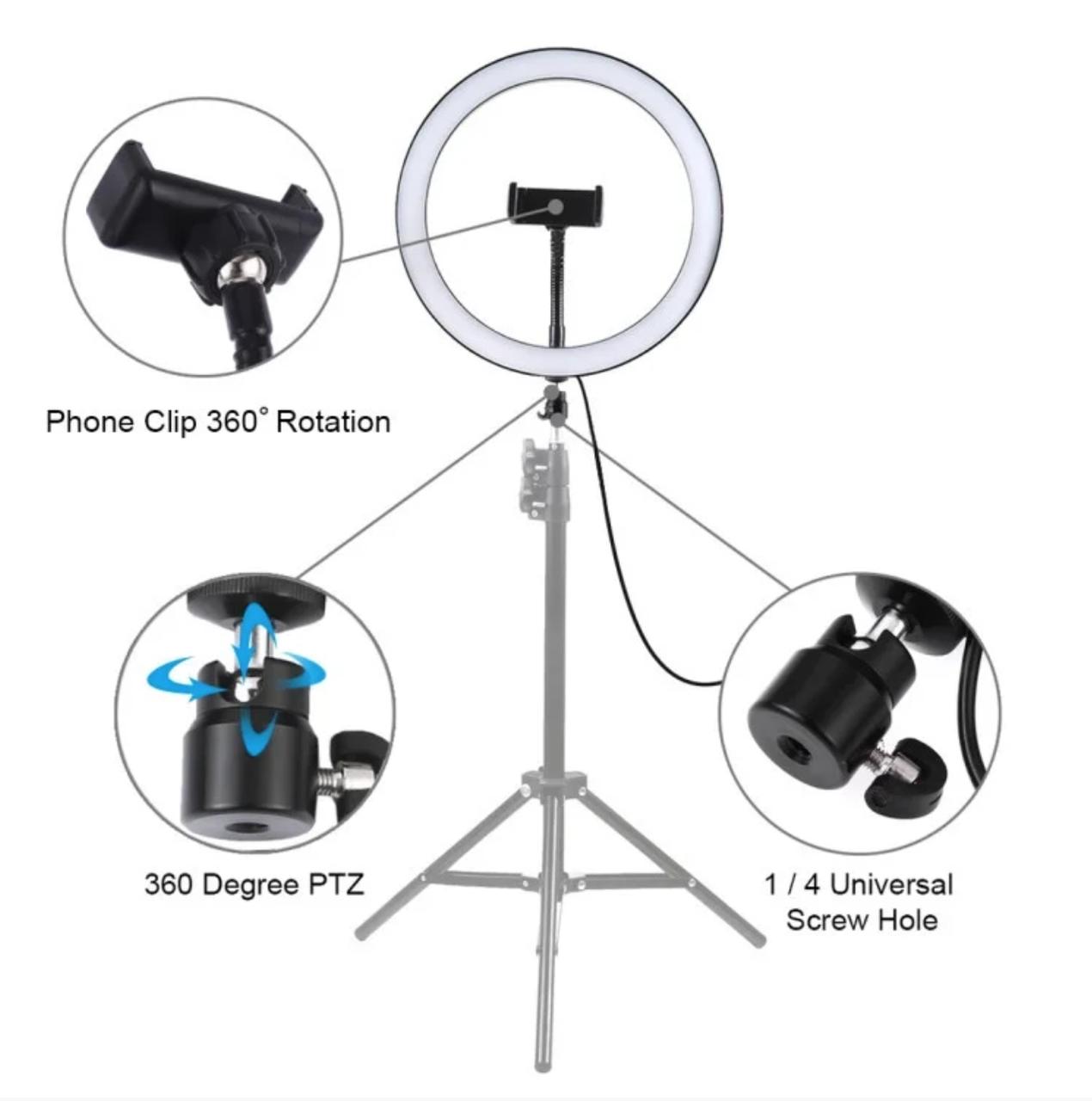 Кільцева лампа для б'юті майстрів і блогерів (30 см. діаметр) - БЕЗ ШТАТИВА! (світлове кільце)
