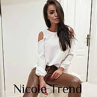 """Блузка жіноча молодіжна з відкритими плечима,розміри 42-48(2цв)""""NICOLE"""" купити недорого від прямого постачальника, фото 1"""