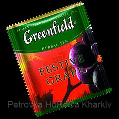 "Чай фруктовый в пактиках  Greenfield ""Festive Grape"" 100шт Виноград"