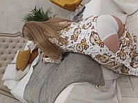 Пижама Попожама Мишка Тедди женская с карманом на попе