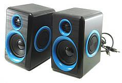 Колонки для ПК компьютерные колонки HLV FT-165 Black Blue