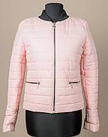 6026 Куртка весенняя женская, 42-48рр (пудра)