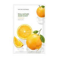 Nature Republic real nature mask sheet orange Тканевая маска для лица c экстрактом апельсина