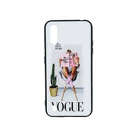 Эксклюзивный чехол для Samsung Galaxy A01 A015 с зеркальной крышкой Girl Case, Vogue