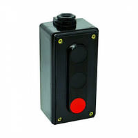 Пост кнопковий ПК722-3  10A  230/400B  IP44 (корпус карболіт, 1 червона, 2 чорних)  ElectrO (шт.)